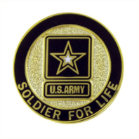 Vanguard ARMY LAPEL PIN: SOLDIER FOR LIFE, VETERAN