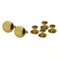 Vanguard NAVY CUFF LINKS AND STUDS: GOLD - SET OF 4
