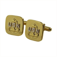 Vanguard NAVY CUFF LINKS: E7 CHIEF PETTY OFFICER - GOLD