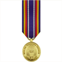 Vanguard MINIATURE MEDAL- 24K GOLD PLATED: GLOBAL WAR ON TERRORISM SERVICE