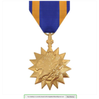 Vanguard Full Size Air Medal AM Military Award-24K Gold Plated