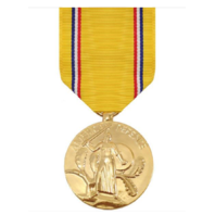 Vanguard FULL SIZE MEDAL AMERICAN DEFENSE SERVICE - 24K GOLD PLATED