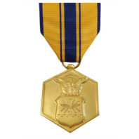 Vanguard FULL SIZE MEDAL AIR FORCE COMMENDATION - 24K GOLD PLATED