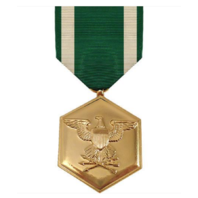 Vanguard FULL SIZE MEDAL NAVY AND MARINE CORPS COMMENDATION - 24K GOLD PLATED