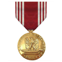 Vanguard FULL SIZE MEDAL ARMY GOOD CONDUCT - 24K GOLD PLATED