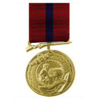 Vanguard FULL SIZE MEDAL: MARINE CORPS GOOD CONDUCT - 24K GOLD PLATED