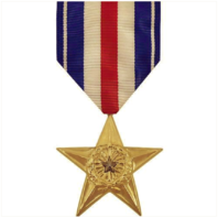 Vanguard FULL SIZE MEDAL SILVER STAR - 24K GOLD PLATED