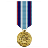 Vanguard AIR FORCE MINIATURE MEDAL - 24K GOLD PLATED AIR AND SPACE CAMPAIGN