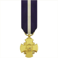 Vanguard MINIATURE MEDAL- 24K GOLD PLATED: NAVY CROSS