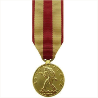 Vanguard MINIATURE MEDAL: MARINE CORPS EXPEDITIONARY - 24K GOLD PLATED