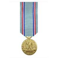 Vanguard MINIATURE MEDAL-24K GOLD PLATED AIR FORCE GOOD CONDUCT