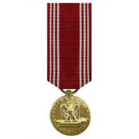Vanguard MINIATURE MEDAL- 24K GOLD PLATED ARMY GOOD CONDUCT