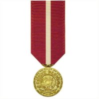 Vanguard MINIATURE MEDAL- 24K GOLD PLATED: COAST GUARD GOOD CONDUCT