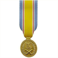 Vanguard MINIATURE MEDAL- 24K GOLD PLATED: KOREA WAR SERVICE