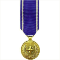 Vanguard MINIATURE MEDAL- 24K GOLD PLATED: NATO MEDAL