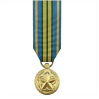 Vanguard Miniature Outstanding Volunteer Service Military Medal -24K Gold Plated