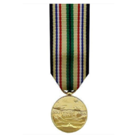 Vanguard MINIATURE MEDAL SOUTHWEST ASIA SERVICE - 24K GOLD PLATED