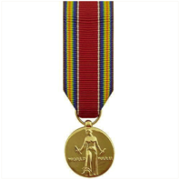 Vanguard MINIATURE MEDAL: WORLD WAR II VICTORY - 24K GOLD PLATED