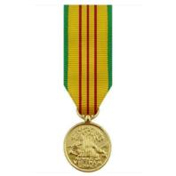 Vanguard MINIATURE MEDAL- 24K GOLD PLATED VIETNAM SERVICE