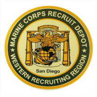 Vanguard MARINE CORPS RECRUITING DEPOT STICKER DECAL: MCRD