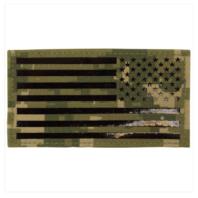 Vanguard FLAG PATCH: U.S. FLAG REVERSED FIELD - IR (INFRARED) - WOODLAND DIGITAL