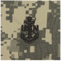 Vanguard NAVY CAP DEVICE: ACU SEW ON E7 CHIEF PETTY OFFICER