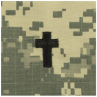 Vanguard ARMY OFFICER BRANCH INSIGNIA: CHRISTIAN CHAPLAIN SEW ON - EMBROIDERED ON ACU