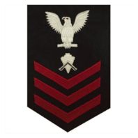 Vanguard NAVY E6 FEMALE RATING BADGE: BUILDER