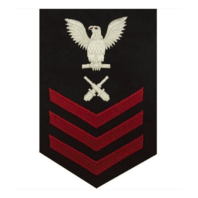 Vanguard NAVY E6 FEMALE RATING BADGE: GUNNER'S MATE