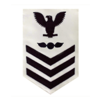 Vanguard NAVY E6 MALE RATING BADGE: AVIATION ELECTRICIAN'S MATE - WHITE