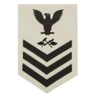 Vanguard NAVY E6 MALE RATING BADGE: AVIATION SUPPORT EQUIPMENT TECHNICIAN - WHITE
