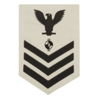 Vanguard NAVY E6 MALE RATING BADGE: ENGINEERING AIDE - WHITE