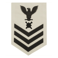 Vanguard NAVY E6 MALE RATING BADGE: EXPLOSIVE ORDNANCE - WHITE