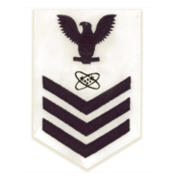 Vanguard NAVY E6 MALE RATING BADGE: ELECTRONICS TECHNICIAN - WHITE
