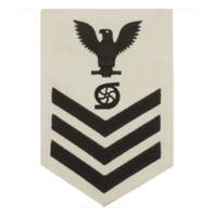 Vanguard NAVY E6 MALE RATING BADGE: GAS TURBINE SYSTEM TECHNICIAN - WHITE