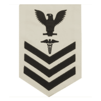 Vanguard NAVY E6 MALE RATING BADGE: HOSPITAL CORPSMAN - WHITE