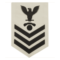 Vanguard NAVY E6 MALE RATING BADGE: INTERIOR COMMUNICATIONS ELECTRICIAN - WHITE