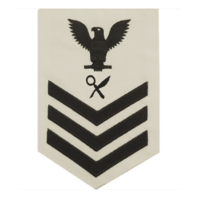 Vanguard NAVY E6 MALE RATING BADGE: INTELLIGENCE SPECIALIST - WHITE