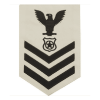 Vanguard NAVY E6 MALE RATING BADGE: MASTER AT ARMS - WHITE