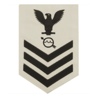 Vanguard NAVY E6 MALE RATING BADGE: OPERATIONS SPECIALIST - WHITE