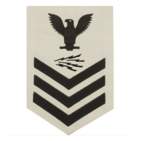 Vanguard NAVY E6 MALE RATING BADGE: INFORMATION TECHNICIAN SPECIALIST - WHITE
