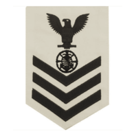 Vanguard NAVY E6 MALE RATING BADGE: RELIGIOUS PROGRAMS SPECIALIST - WHITE
