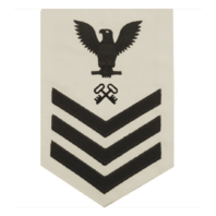 Vanguard NAVY E6 MALE RATING BADGE: LOGISTICS - WHITE
