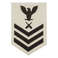 Vanguard NAVY E6 FEMALE RATING BADGE: GUNNER'S MATE - WHITE