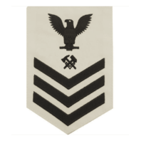 Vanguard NAVY E6 FEMALE RATING BADGE: HULL MAINTENANCE TECHNICIAN - WHITE