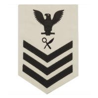 Vanguard NAVY E6 FEMALE RATING BADGE: INTELLIGENCE SPECIALIST - WHITE