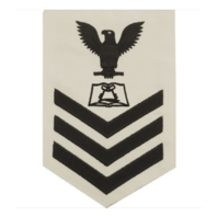 Vanguard NAVY E6 FEMALE RATING BADGE: CULINARY SPECIALIST - WHITE