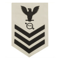 Vanguard NAVY E6 FEMALE RATING BADGE: OPERATIONS SPECIALIST - WHITE