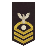 Vanguard NAVY E7 MALE RATING BADGE: ELECTRICIAN'S MATE - SEAWORTHY GOLD ON BLUE