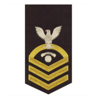 Vanguard NAVY E7 MALE BADGE INTERIOR COMMUNICATIONS ELECTRICIAN SEAWORTHY GOLD/BLUE